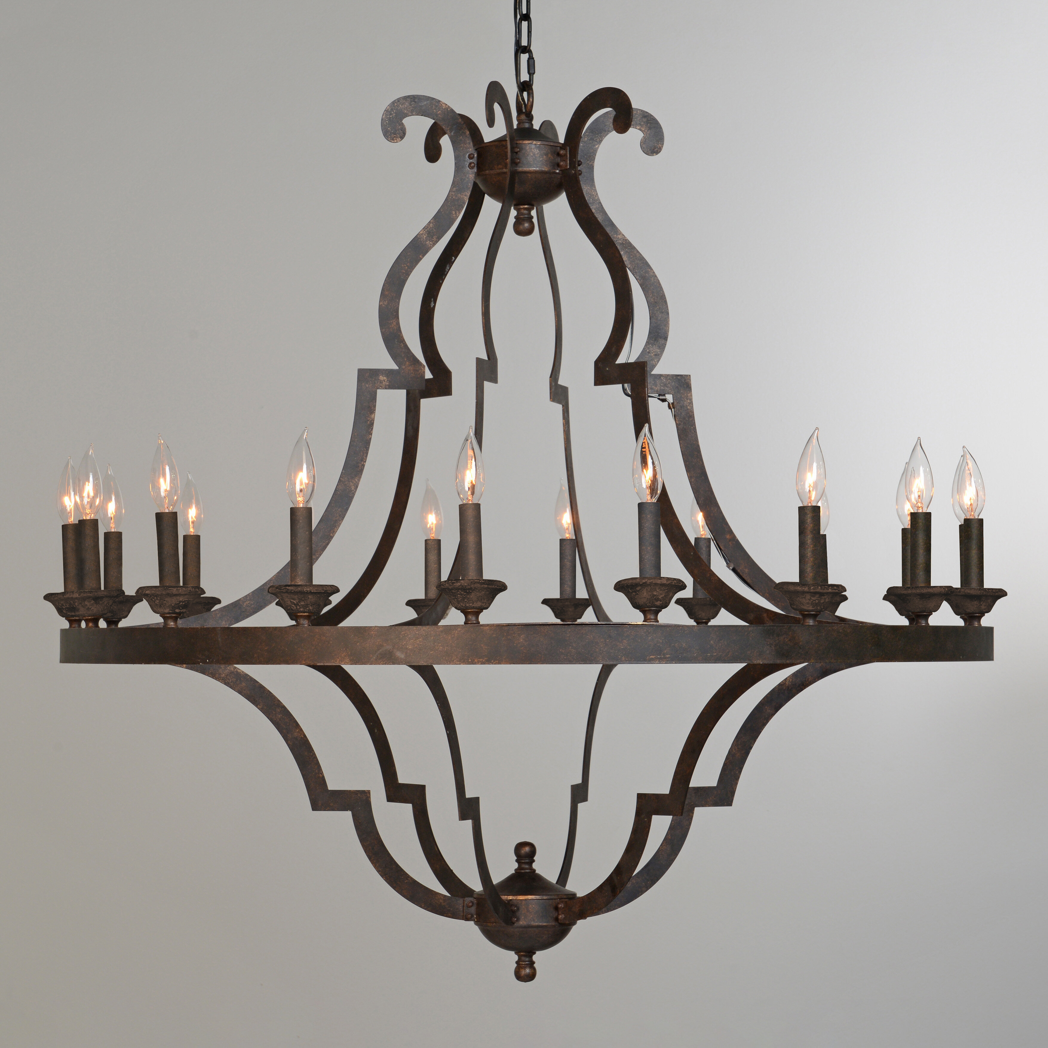 Kosas Home Seville 18 Light Candle Style Geometric Chandelier Perigold