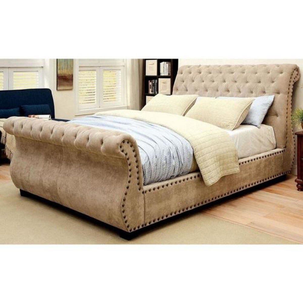 Darby Home Co Bohon Contemporary Upholstered Sleigh Bed Wayfair