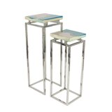 Haugland Stainless Steel/Polystone Pedestal 2 Piece Pub Table Set by Orren Ellis