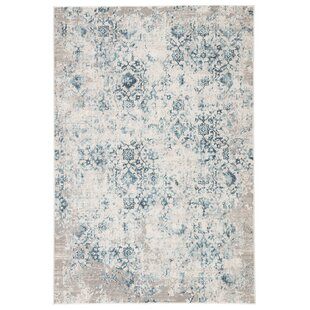 Biwabik Damask Blue Area Rug by Bungalow Rose