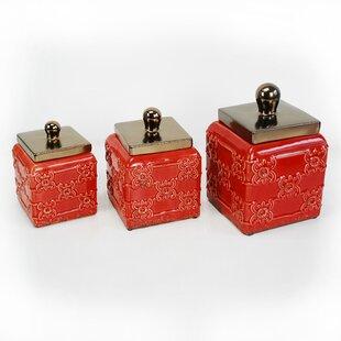 Red Kitchen Canisters U0026 Jars Youu0027ll Love   Wayfair