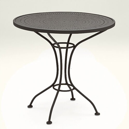 Woodard Parisienne 30 Round Bistro Table with Pattern Metal Top