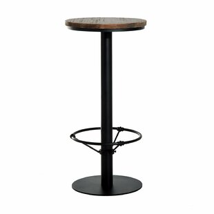 Liesel Bar Height Standing Pub Table with Wood Top Williston Forge
