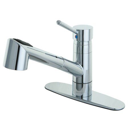 Perfect Wilshire Gourmetier Single Handle Pull Out Spray Kitchen Faucet