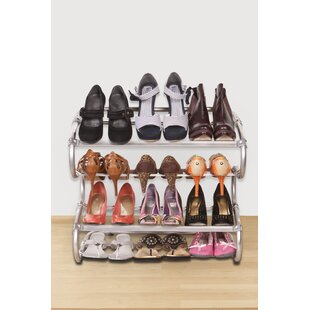 Find a 4-Tier 12 Pair Shoe Rack By Konekte
