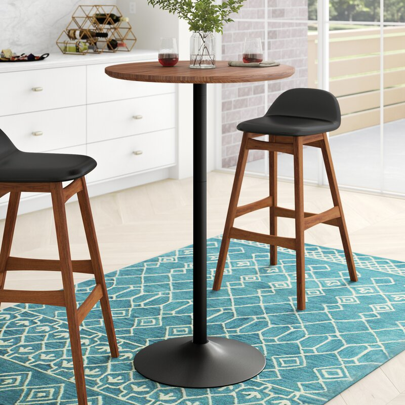 White Cane Outdoor Furniture, Zipcode Design Laurens Adjustable Bar Height Dining Table Reviews Wayfair