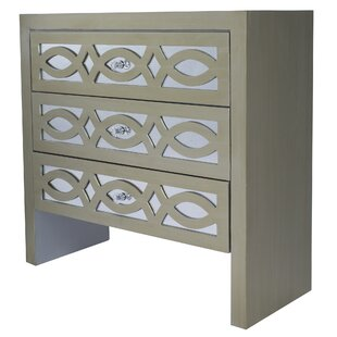 Rosdorf Park Tanner 3 Drawer Accent Chest