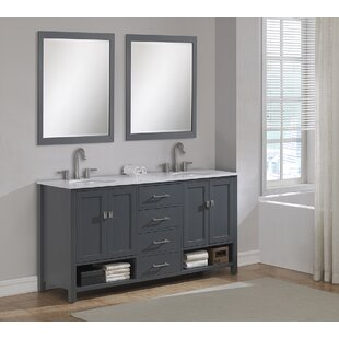 Pinedale 72 Double Bathroom Vanity Set by Rosecliff Heights