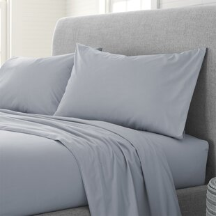 Deepwater Organic Comfort Wash 200 Thread Count Solid Color 100% Cotton Sheet Set
