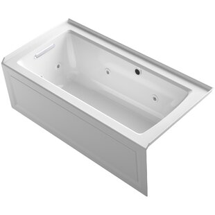 Kohler Archer Alcove Whirlpool Bath with Bask Heated Surface, Integral Apron, Tile Flange and Left-Hand Drain