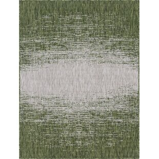 Jennette Green/Gray Indoor/Outdoor Area Rug