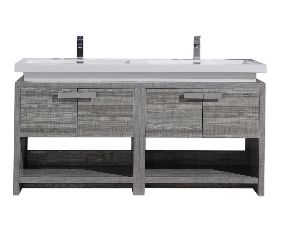 Gaynelle 63 double bathroom vanity set reviews allmodern gaynelle 63 double bathroom vanity set geotapseo Image collections