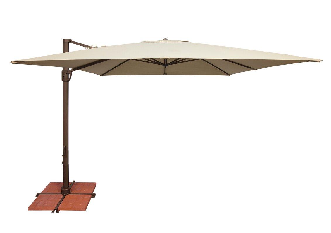 Bali 10u0027 Square Cantilever Umbrella
