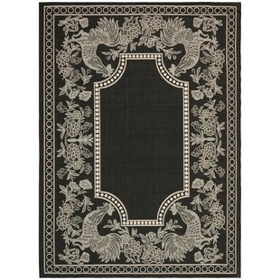 Laurel Black/Sand Indoor/Outdoor Rug