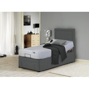 Daisy Upholstered Adjustable Bed With Mattress By Symple Stuff