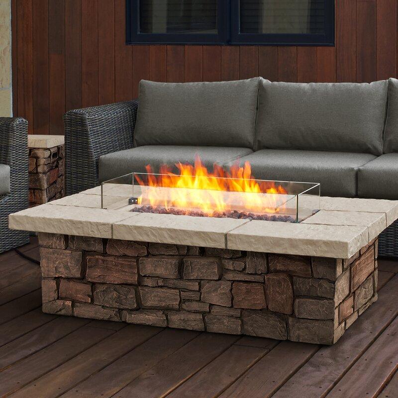 Sedona Concrete Propane Gas Fire Pit Table