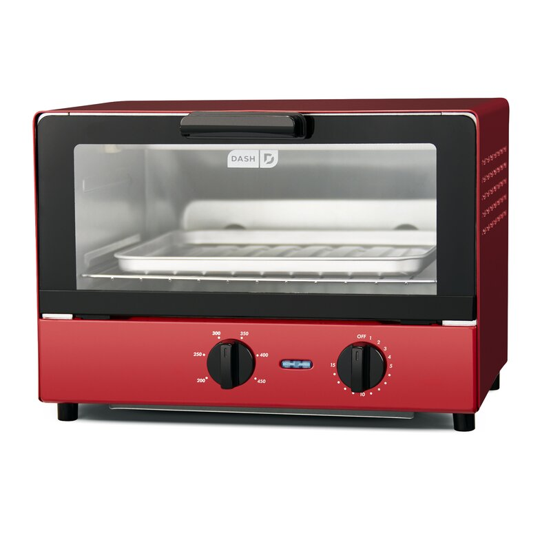 DASH 4 Slice Toaster Oven Color: Red
