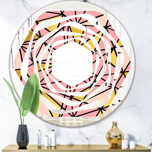 Whirl Marble Design IV Modern Wall Mirror