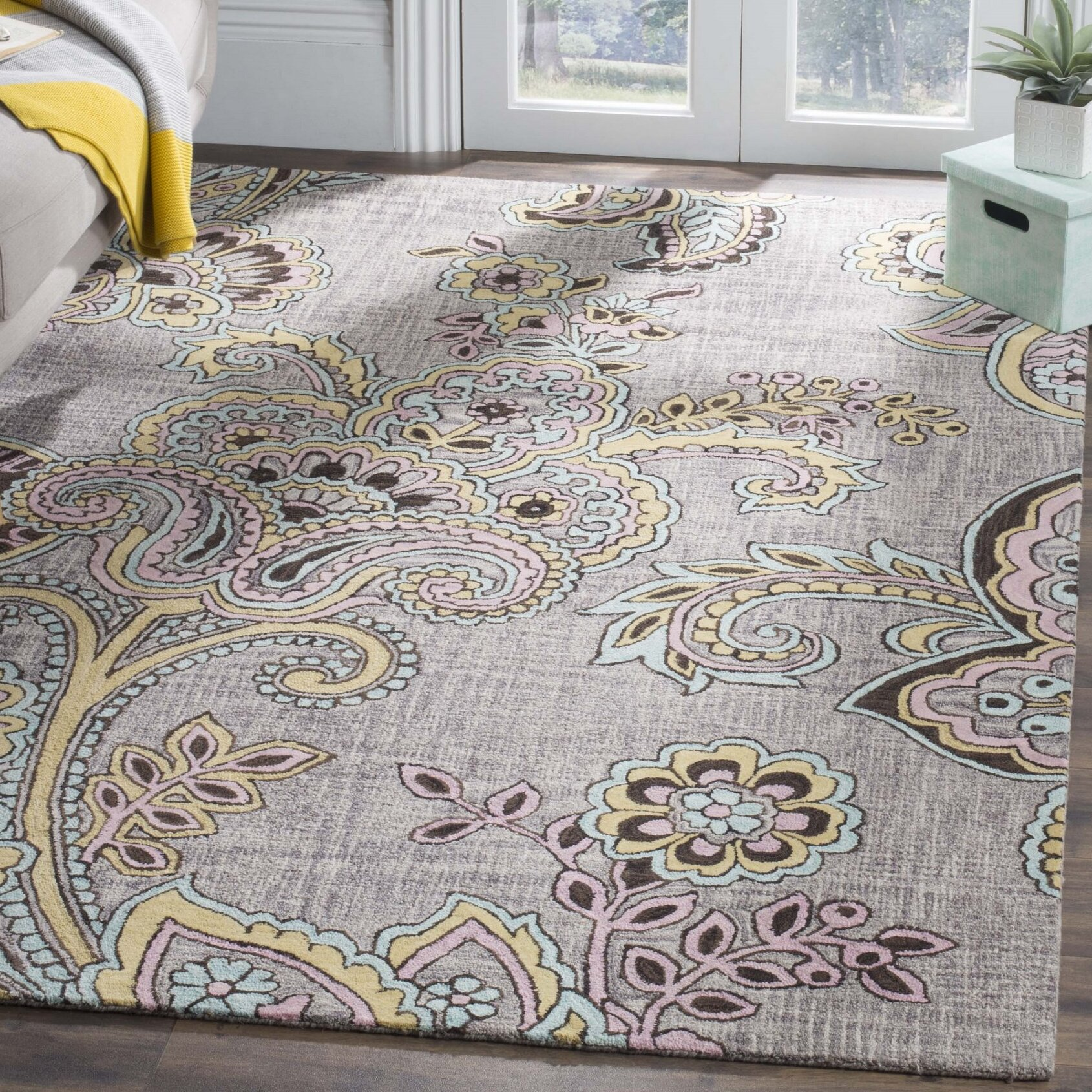 Modern Contemporary Paisley Area Rugs You Ll Love In 2021 Wayfair