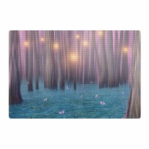 Viviana Gonzalez Feather Dance Digital Blue/Pink Area Rug