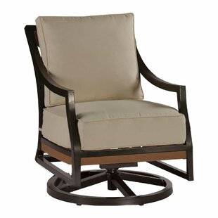 Summer Classics Belize Swivel Rocking Chair with Cushions