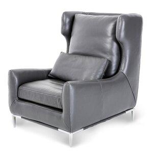 Michael Amini Mia Bella Lazzio Leather Wingback Chair