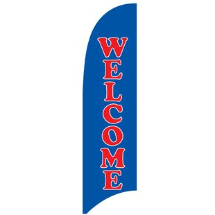 Welcome 3 Piece Polyester Feather Flag Set by Victory Corps