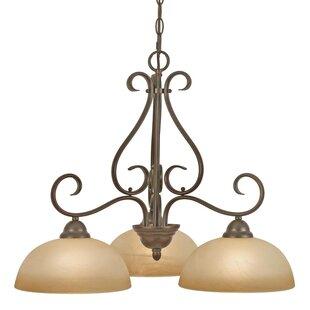 Downlight chandelier wayfair foxburg 3 light shaded chandelier mozeypictures Gallery
