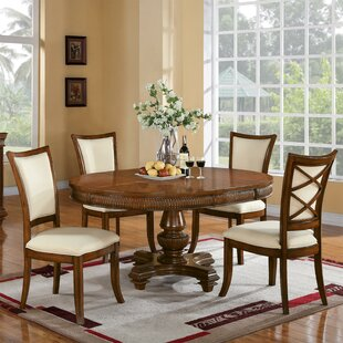 Leander 5 Piece Dining Set World Menagerie