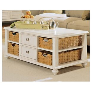 Wheelock 2 Drawer Coffee Table by Beachcrest Home