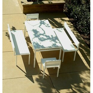 Modern Outdoor Talt 5 Piece Dining Set