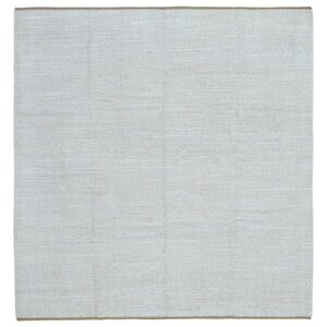 Evan Kilim Hand-Woven Wool Gray Area Rug