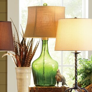 Sea glass table lamp wayfair lawrence glass table lamp mozeypictures Gallery