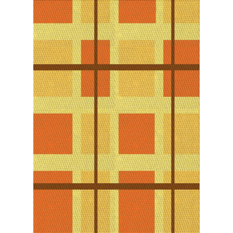 East Urban Home Armand Geometric Wool Yellow Area Rug Wayfair