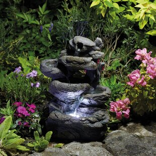 Tirado Polystone Fountain With LED Light By Sol 72 Outdoor