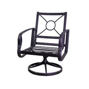 Waynesburg Swivel Patio Dining Chair (Set of 2)