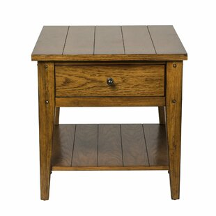 Read Reviews Kalene End Table With Storage ByLoon Peak