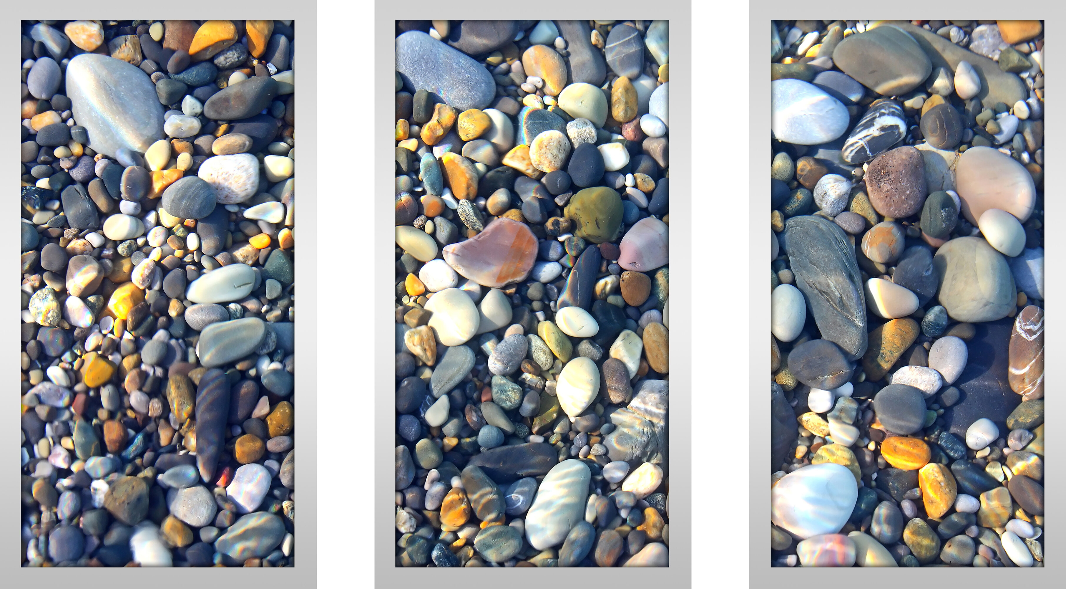 Picture Perfect InternationalWater Stones 16 Framed Plexiglass Wall Art Set of 3
