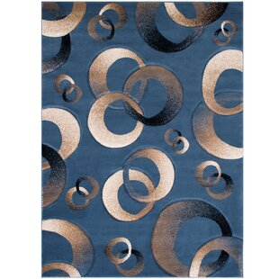 Compare & Buy Circles Blue Area Rug By AllStar Rugs
