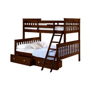 Harriet Bee Steam Plant Twin over Full Standard Bunk Bed with Storage