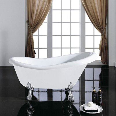 Eviva Stella Clawfoot Soaking Bathtub