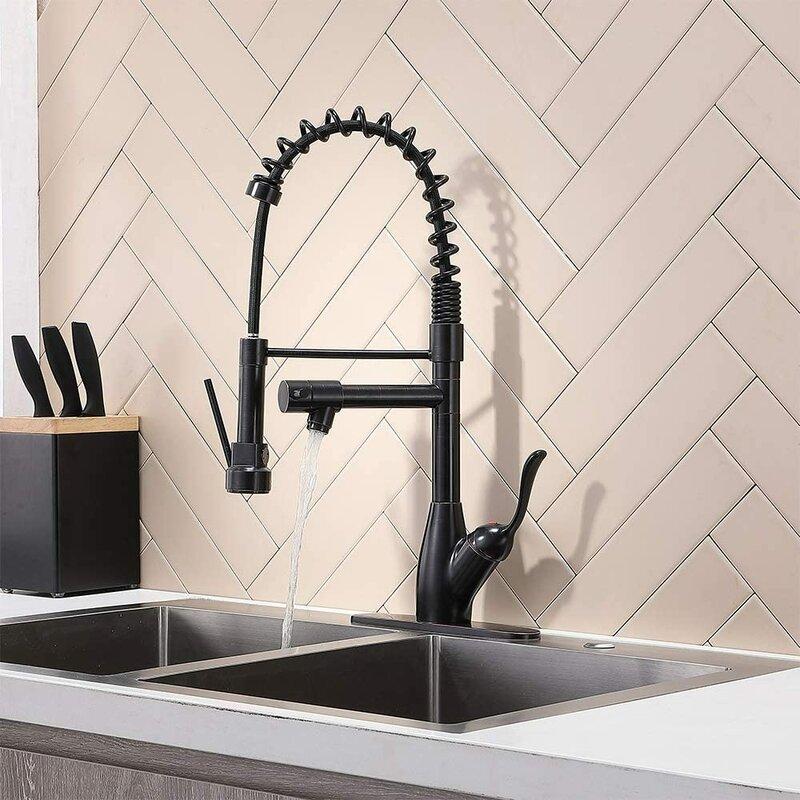 Friho Spring Pull Down Single Handle Kitchen Faucet Wayfair