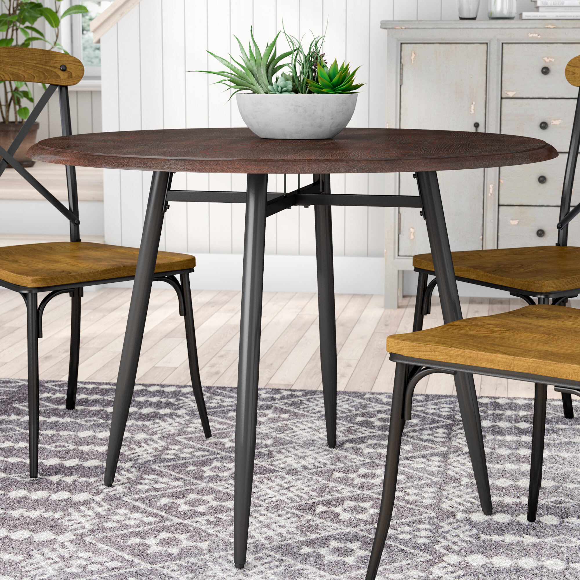 Rustic Farmhouse Round Dining Tables You Ll Love In 2021 Wayfair