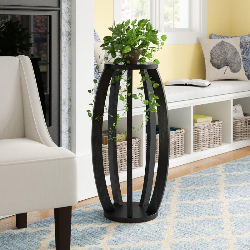 Genial Newbern Pedestal Plant Stand