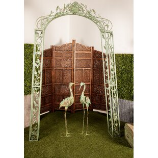 Cole & Grey Traditional Iron Scrollwork and Floral Garden Trellis