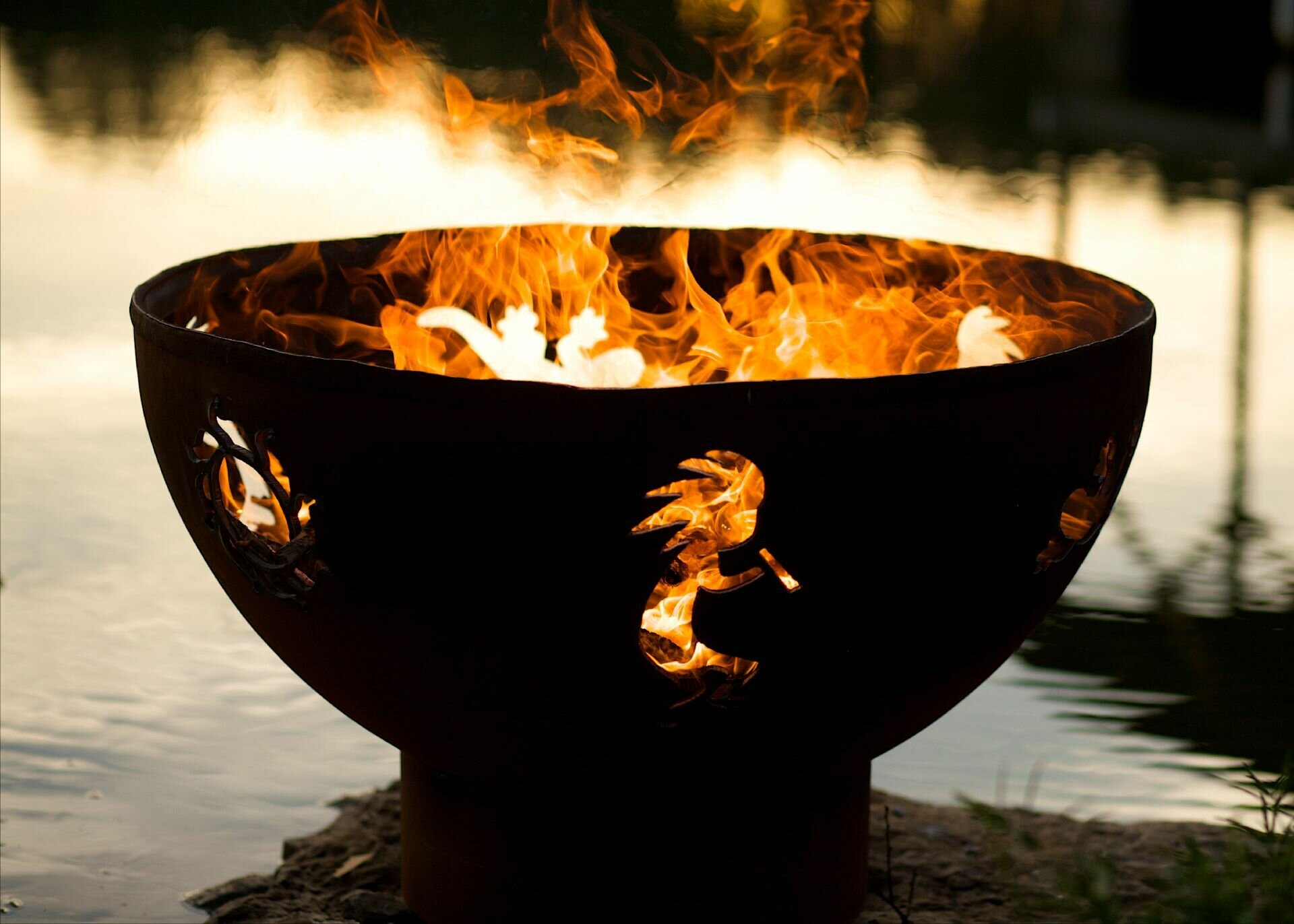 Fire Pit Art Kokopelli Steel Fire Pit Wayfair