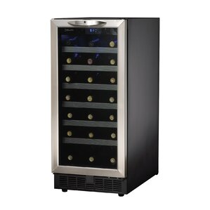 34 Bottle Silhouette Single Zone Built-In Wine Cooler by Danby