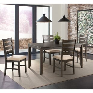 Rushton 5 Piece Solid Wood Dining Set Gracie Oaks