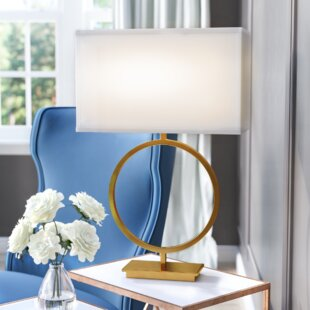 Coupon Britley 28.75 Table Lamp with Rectangular Shade By Willa Arlo Interiors