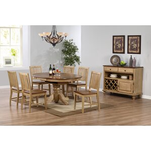 Huerfano Valley 8 Piece Dining Set by Loon Peak